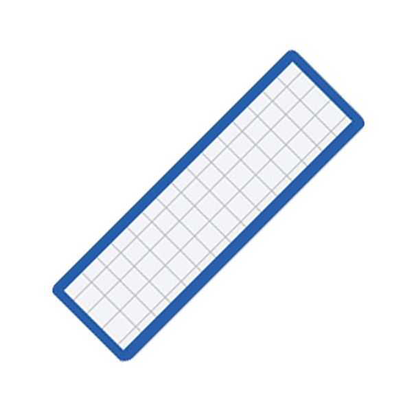 (まとめ) コクヨ マグネット見出し 19×75×1.2mm 青 マク-402B 1個 【×100セット】【日時指定不可】