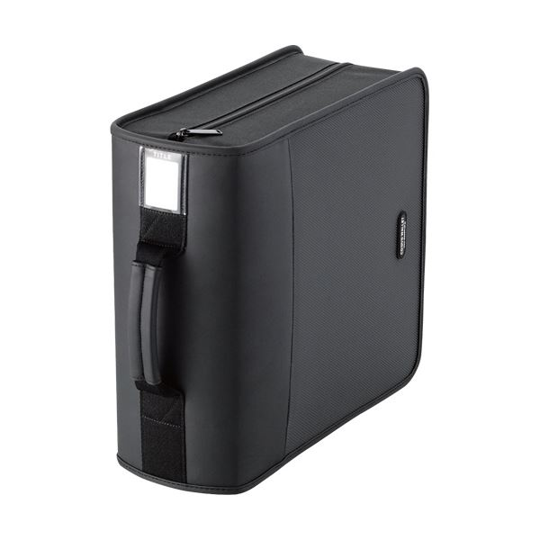 (まとめ) エレコム CD/DVDファスナーケースハンドル付 320枚収納 ブラック CCD-SS320BK 1個 【×5セット】【日時指定不可】