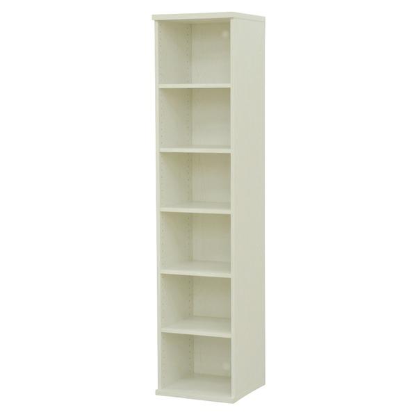 カラーボックス(収納棚/カスタマイズ家具) 6段 幅40×高さ177.9cm セレクト1840WH ホワイト【代引不可】【日時指定不可】