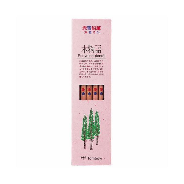 (まとめ) トンボ鉛筆 エコ鉛筆木物語赤青(5:5) CV-REAVP 1ダース(12本) 【×30セット】【日時指定不可】
