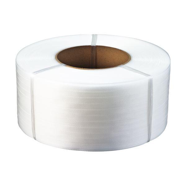 (まとめ)TANOSEE PPバンド 自動梱包機用 15mm×2500m 半透明 1巻【×3セット】【日時指定不可】