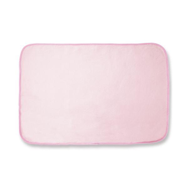 (まとめ)オーミケンシ フリースひざ掛け ピンク 1枚【×10セット】【日時指定不可】