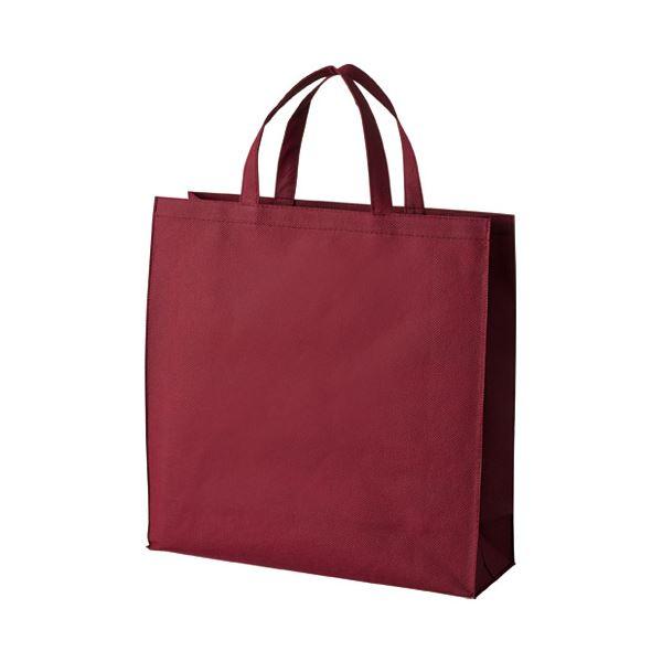 (まとめ) スマートバリュー 不織布手提げバッグ小10枚ワイン B450J-WN【×10セット】【日時指定不可】