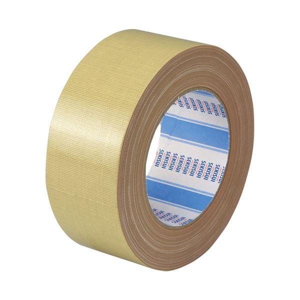 (まとめ)セキスイ 布テープ No.600 50mm×25m 黄土 N60X03【×50セット】【日時指定不可】