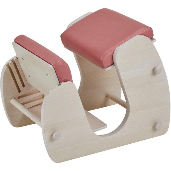 Keepy プロポーションチェア ホワイト×フローラルピンク 猫背 姿勢 チェア 学習チェア テレワーク CH-910 【組立品】【代引不可】【日時指定不可】