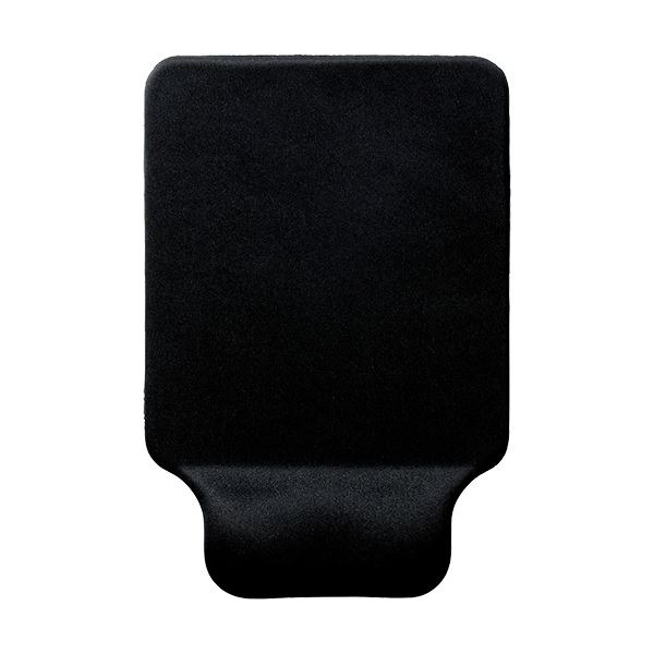 (まとめ) エレコム リストレスト付マウスパッドGEL ブラック MP-GELBK 1枚 【×10セット】【日時指定不可】