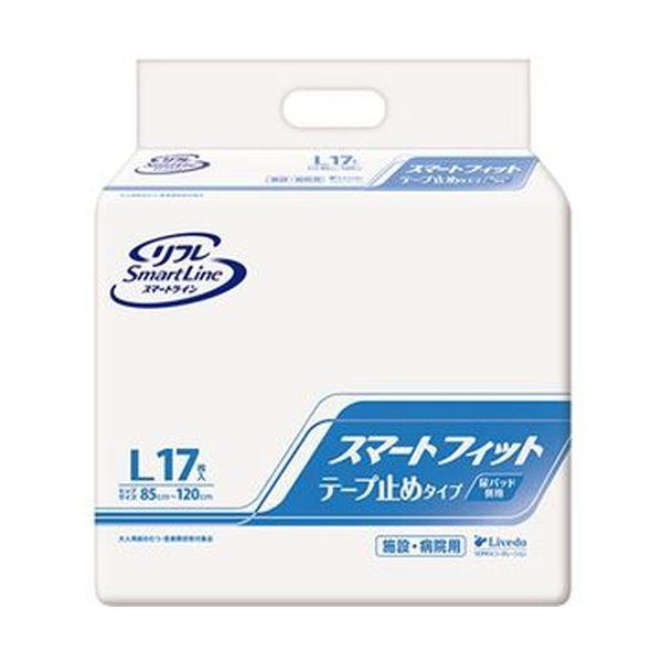 (まとめ)リブドゥコーポレーション リフレスマートフィット テープ止めタイプ L 1パック(17枚)【×5セット】【日時指定不可】