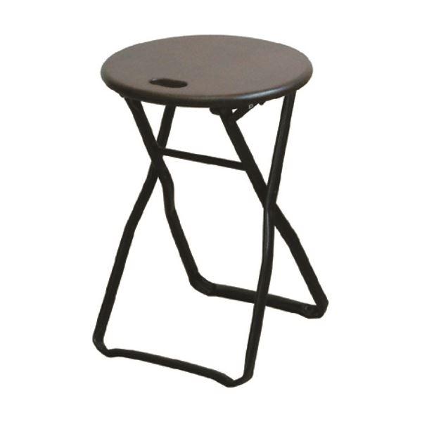 折りたたみ椅子 【4脚セット ダークブラウン×ブラック】 幅32cm 日本製 木製 スチールパイプ 『キャプテンチェア』【代引不可】【日時指定不可】