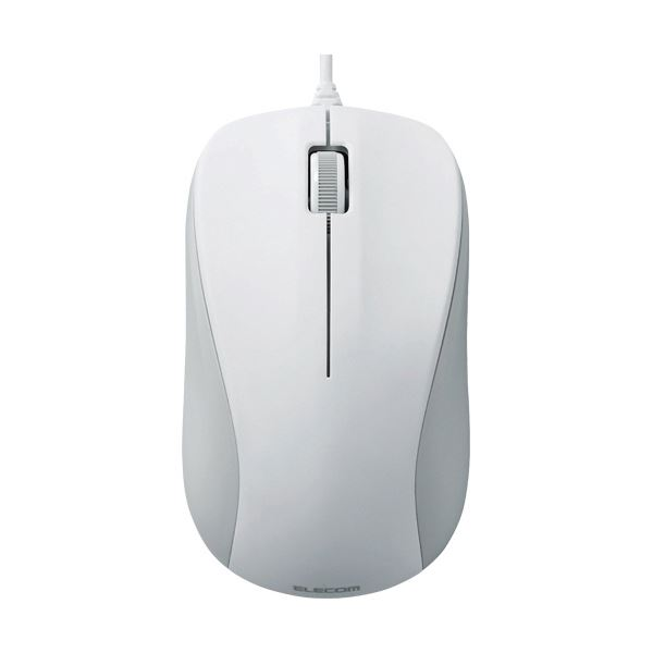 (まとめ) エレコム USB光学式マウス 3ボタンRoHS指令準拠 Mサイズ ホワイト M-K6URWH/RS 1個 【×10セット】【日時指定不可】
