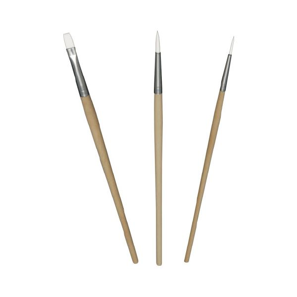 (まとめ)なめらか画筆 3本セット【×30セット】【日時指定不可】