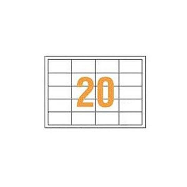 (まとめ)ライオン事務器 PPCタックラベルA4判 68.58×38.1mm(20片入)PPC-20F 1箱(100シート)【×3セット】【日時指定不可】