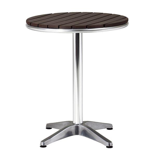 アルミテーブル 【直径600mm】 組立品【代引不可】【日時指定不可】
