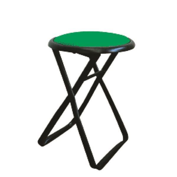 折りたたみ椅子 【6脚セット グリーン×ブラック】 幅32cm 日本製 スチールパイプ 『キャプテンチェア』【代引不可】【日時指定不可】