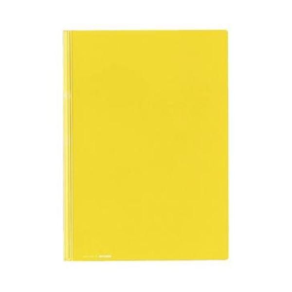 (まとめ)コクヨ レールクリヤーホルダー(カラーズ)PET A4タテ 20枚収容 黄 フ-TPC760Y 1セット(5冊)【×20セット】【日時指定不可】