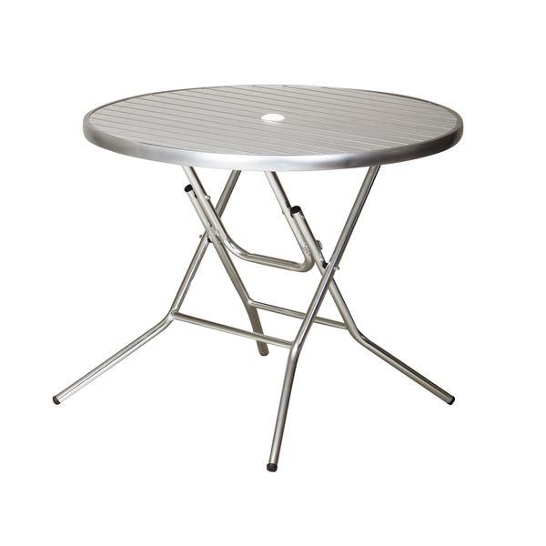 アルミフォールディングテーブル アルミ 【直径900mm】 完成品【代引不可】【日時指定不可】