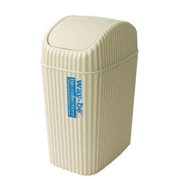 (まとめ) ゴミ箱/ダストボックス 【2L】 スイングタイプ アイボリー 『ウェイビー』 【36個セット】【日時指定不可】