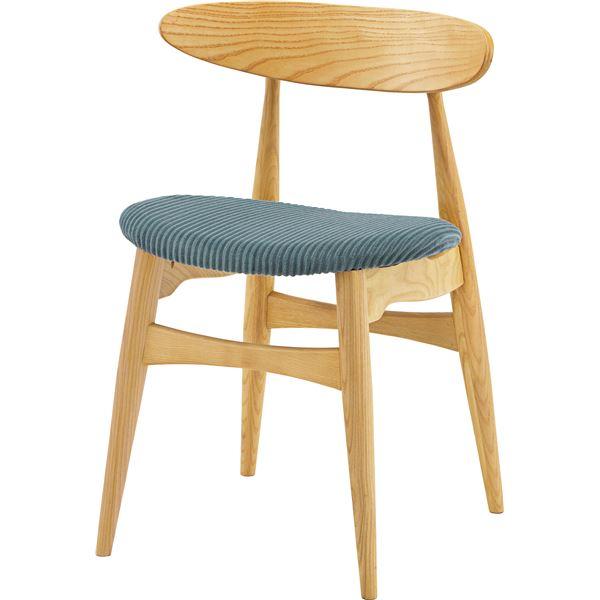 ダイニングチェア/食卓椅子 2脚セット 【グレー】 幅52cm×奥行49cm×高さ74cm×座面高46cm 木製素材 〔リビング 台所〕【日時指定不可】