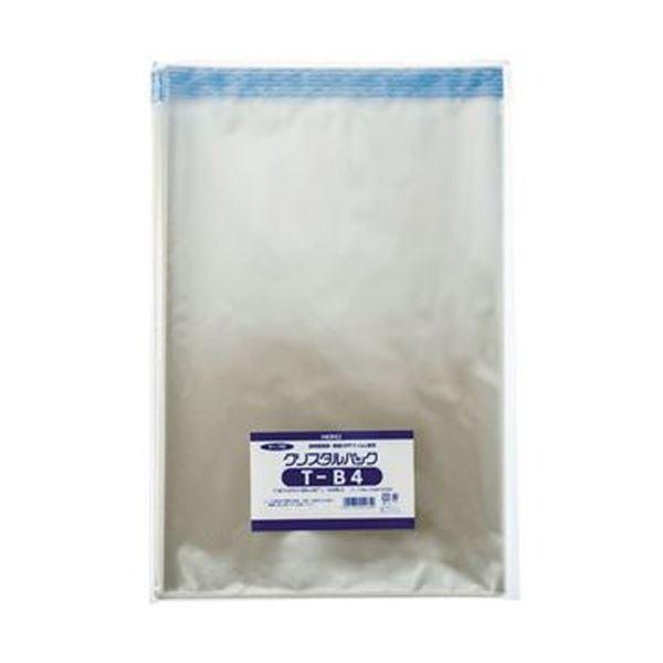(まとめ)HEIKO クリスタルパックT(テープ付)T-B4 0.03×270×380+40mm #6743300 1パック(100枚)【×10セット】【日時指定不可】
