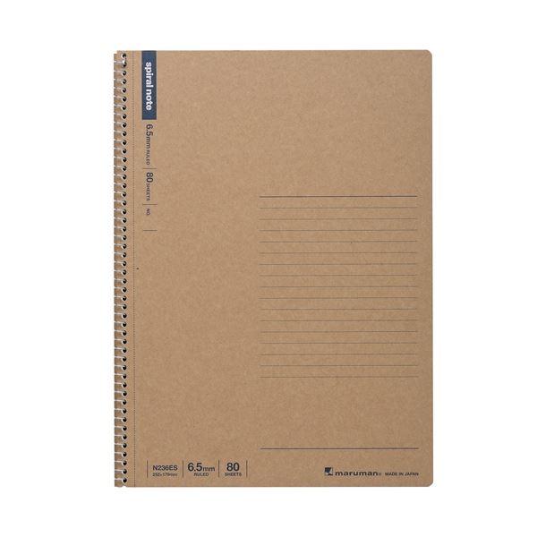 (まとめ)マルマン スパイラルノート80枚 6.5mm N236ES【×100セット】【日時指定不可】