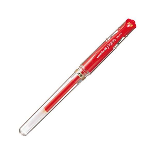 (まとめ) 三菱鉛筆 ゲルインクボールペン ユニボール シグノ 太字 1.0mm 赤 UM153.15 1本 【×100セット】【日時指定不可】