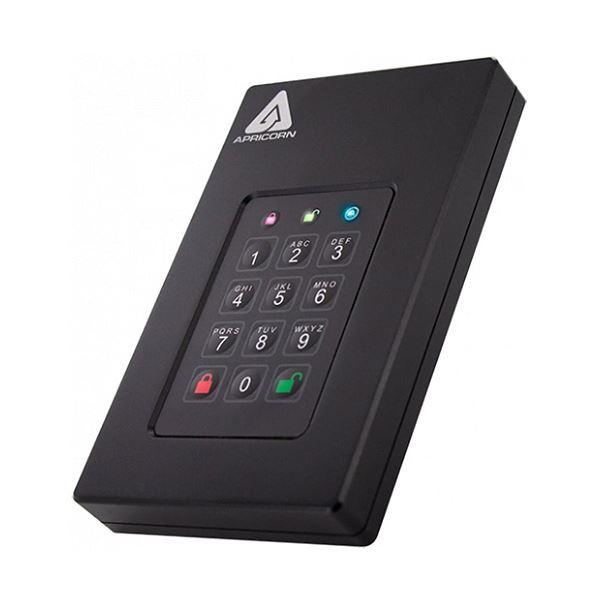 Apricorn AegisFortress L3 暗証番号対応ポータブルHDD 1TB AFL3-1TB 1台【日時指定不可】