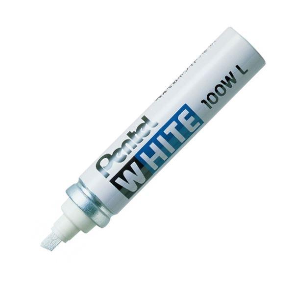 (まとめ) ぺんてる 油性ペイントマーカー ホワイト 極太 X100W-LD 1本 【×30セット】【日時指定不可】