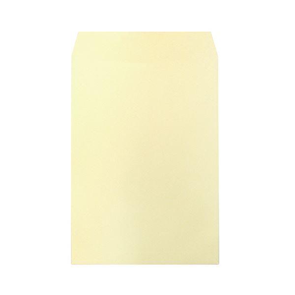 (まとめ)ハート 透けないカラー封筒 テープ付角2 パステルクリーム XEP473 1セット(500枚:100枚×5パック)【×3セット】【日時指定不可】