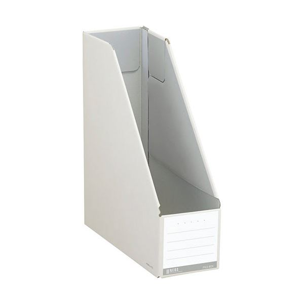 (まとめ) コクヨ ファイルボックス(NEOS)スタンドタイプ A4タテ 背幅102mm オフホワイト フ-NEL450W 1セット(10冊) 【×10セット】【日時指定不可】