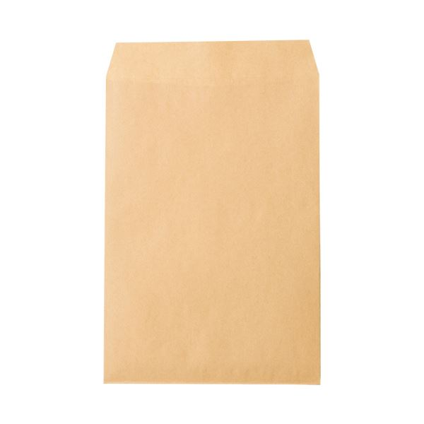 (まとめ) ピース R40再生紙クラフト封筒 角2085g/m2 業務用パック 792-80 1箱(500枚) 【×5セット】【日時指定不可】