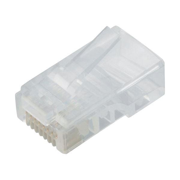 (まとめ) エレコム ツメの折れないLANコネクタカテゴリー5E 単線用 LD-RJ45T10/T 1パック(10個) 【×10セット】【日時指定不可】