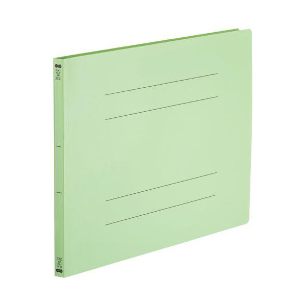 (まとめ)TANOSEE フラットファイル(再生PP)A3ヨコ 150枚収容 背幅18mm グリーン 1パック(5冊)【×5セット】【日時指定不可】