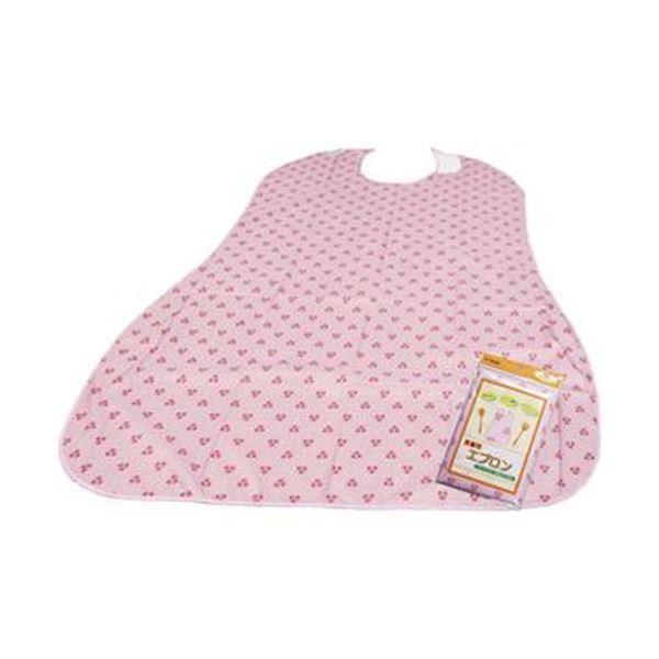 (まとめ)オオサキメディカル プラスハート食事用エプロン ピンク 1枚【×10セット】【日時指定不可】
