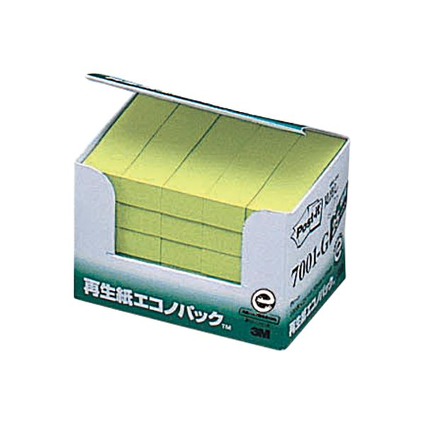 (まとめ) 3M ポスト・イット エコノパック見出し 再生紙 50×15mm グリーン 7001-G 1パック(25冊) 【×10セット】【日時指定不可】