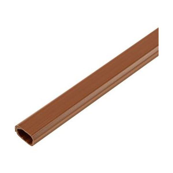 (まとめ)ELPA 切れるモール ミニ 1m テープ付 ブラウン MH-CT01H(BR)1本【×50セット】【日時指定不可】