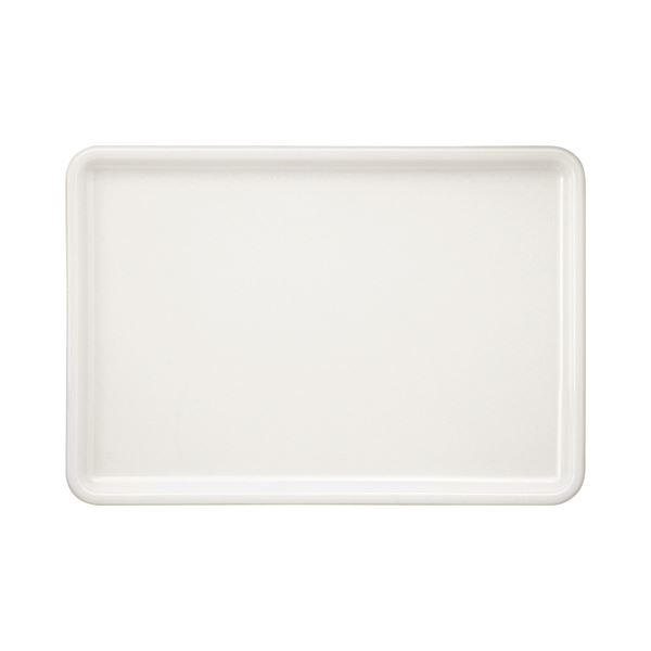 永山樹脂 トレー 角 ホワイト 400×280mm NJ-W03 1枚 【×10セット】【日時指定不可】