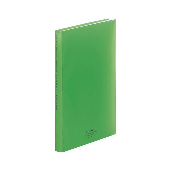 (まとめ) LIHIT LAB クリヤーブック 黄緑【×20セット】【日時指定不可】
