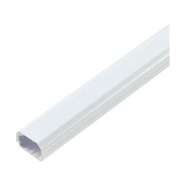 (まとめ)ELPA 切れるモール 1号 1m テープ付 ホワイト MH-CT11H(W)1本【×50セット】【日時指定不可】