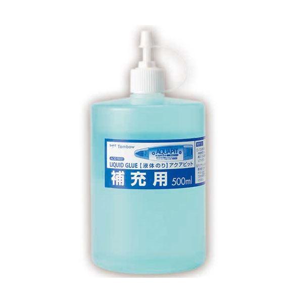 (まとめ) トンボ鉛筆 液体のり アクアピット 補充用 500ml PR-WT 1個 【×30セット】【日時指定不可】