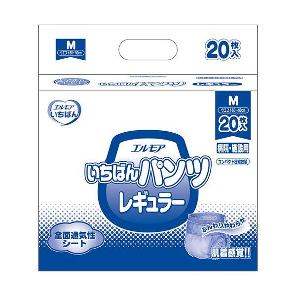 カミ商事 エルモアいちばん パンツレギュラー Mサイズ 1セット(120枚:20枚×6パック)【日時指定不可】