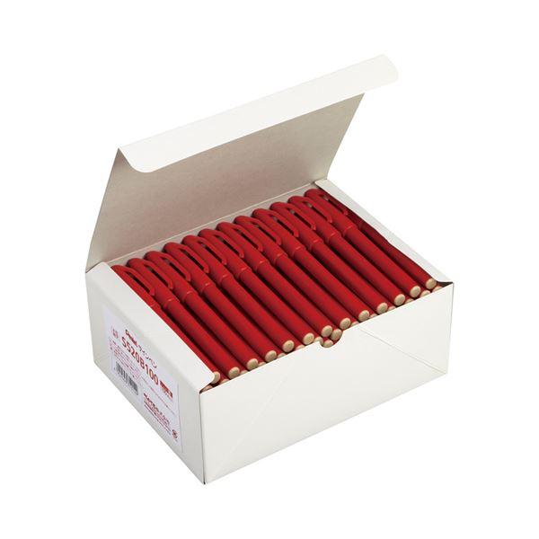 (まとめ)ぺんてる 水性サインペン 赤 S520B100 1箱(100本)【×3セット】【日時指定不可】