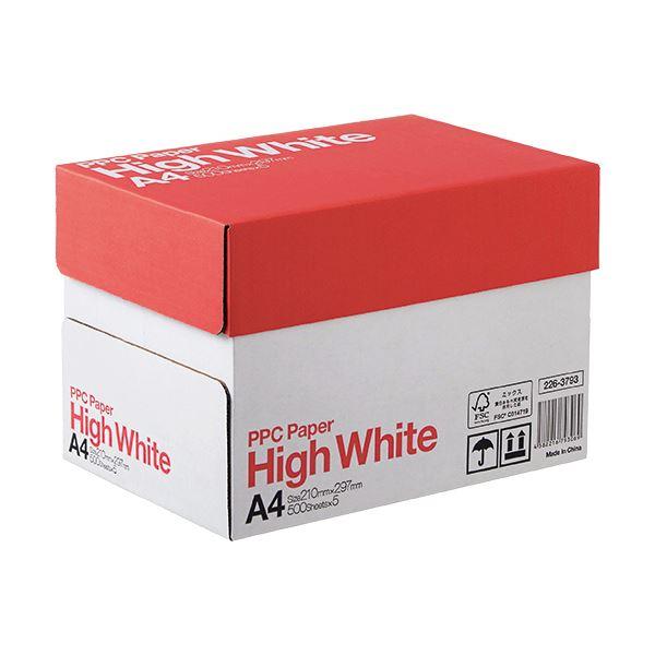 (まとめ) PPC PAPER High WhiteA4 1箱(2500枚:500枚×5冊) 【×5セット】【日時指定不可】