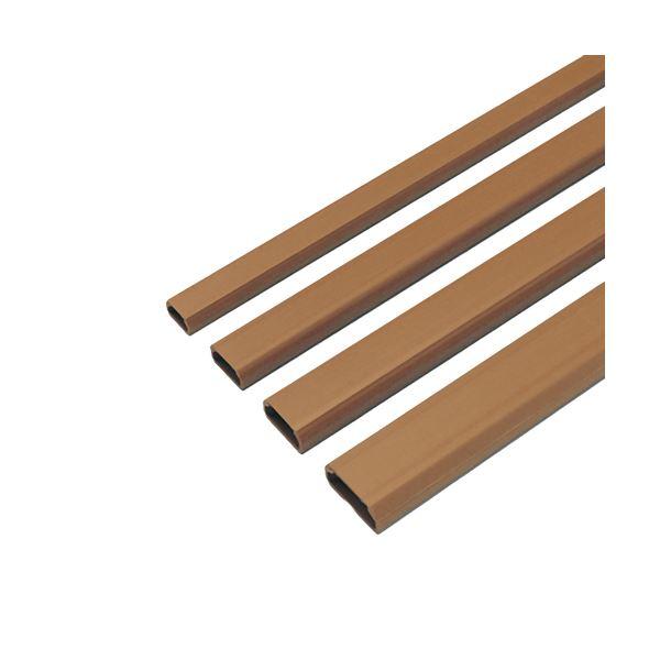 (まとめ) サンワサプライ ケーブルカバー17mm幅 角型 ブラウン CA-KK17BR 1本 【×30セット】【日時指定不可】