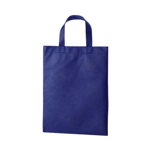 (まとめ) TANOSEE 不織布バッグ A4 マチ無 ヨコ270×タテ350mm ネイビー 1パック(10枚) 【×10セット】【日時指定不可】