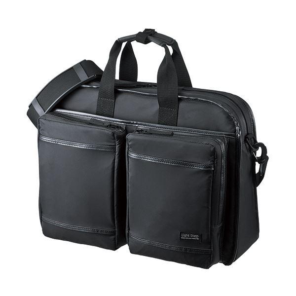 (まとめ)サンワサプライ 超撥水・軽量PCバッグ3WAYタイプ 15.6インチワイド対応 シングル ブラック BAG-LW10BK 1個【×3セット】【日時指定不可】