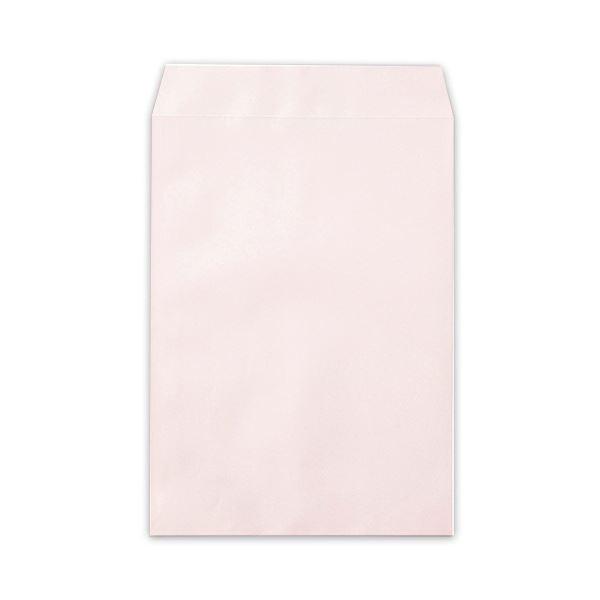 (まとめ)寿堂 カラー上質封筒 角2 〒枠なしサイド貼 テープのり付 サクラ 10556 1パック(500枚)【×3セット】【日時指定不可】