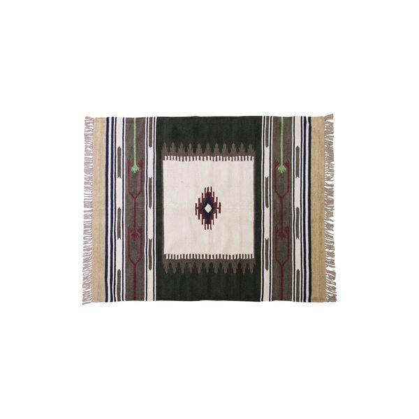 キリム ラグマット/絨毯 【170×230cm TTR-107A】 長方形 綿 インド製 〔リビング ダイニング フロア 居間〕【日時指定不可】