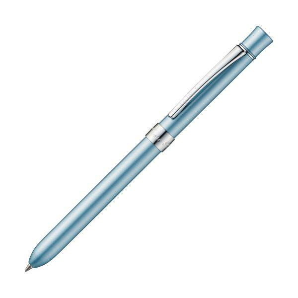 (まとめ) TANOSEE 多機能筆記具3ファンクションスリムメタルf シルバーブルーマイカ 1本 【×10セット】【日時指定不可】