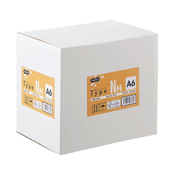 (まとめ) TANOSEE αエコペーパータイプNH A6 1箱(4000枚:500枚×8冊) 【×5セット】【日時指定不可】