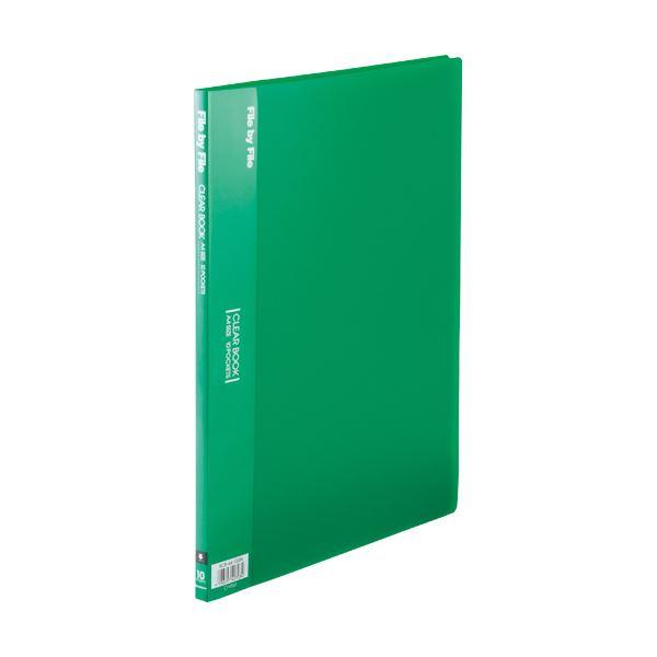 (まとめ)ビュートン クリヤーブック A4タテ10ポケット 背幅9mm グリーン BCB-A4-10GN 1セット(10冊)【×5セット】【日時指定不可】