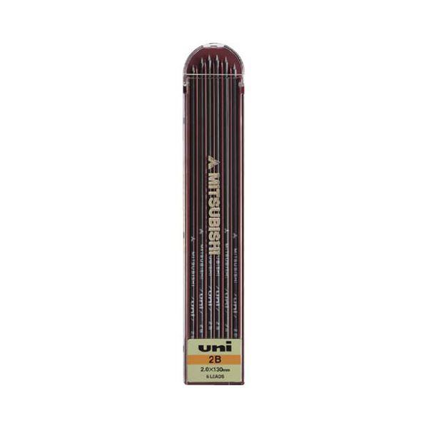 (まとめ) 三菱鉛筆 ユニホルダー替芯 2.0mm2B ULN2B 1個(6本) 【×50セット】【日時指定不可】
